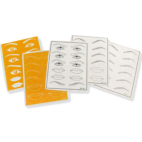 Eyes/Eyebrow/Lips Practice Rubber Skin  - Permanent Makeup