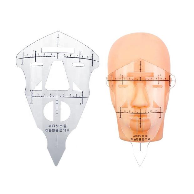 Microblading Measurer Facial Mask Guide Ruler - Permanent Makeup